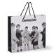 Papiertasche mit schwarz/weiß Fotodruck PP-Henkel